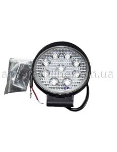 Фара кругла LED 27w (широкий промінь)