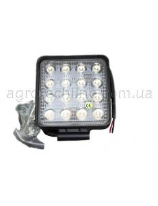 Фара квадратна LED 48w (вузький промінь)