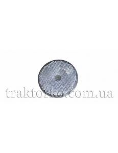 Світлоповертач круглий (безколірний, під болт)