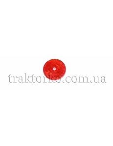 Світлоповертач круглий (червоний, під болт)