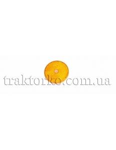 Світлоповертач круглий (помаранчевий, під болт)
