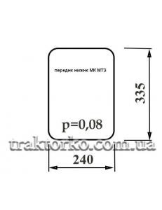 Скло переднє нижнє МК МТЗ (335х240)