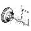 Ступиця переднього колеса і переднє колесо